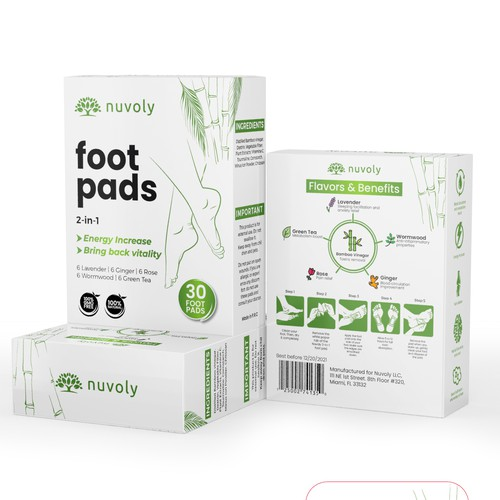 Appealing Packaging box for Detox foot pads