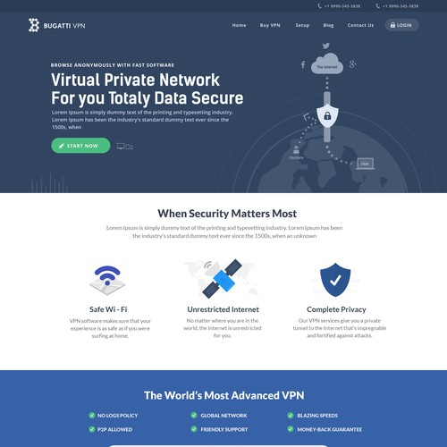 Website Design for the VPN Service