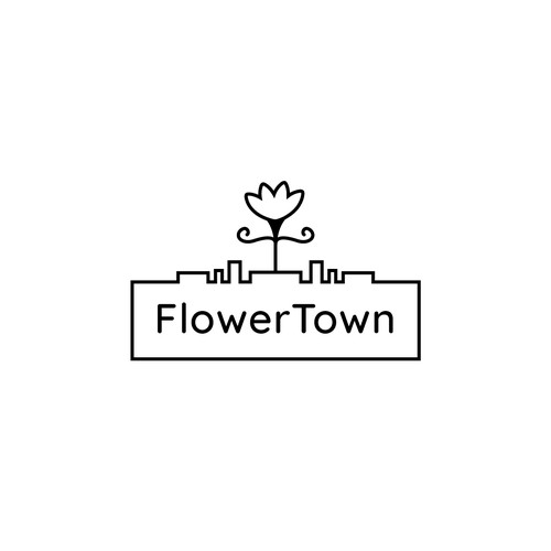 "Bold Logo for a cannabis focused marketing agency ""FlowerTown"""