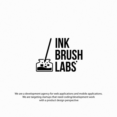 logo for ink brush labs