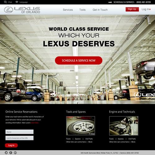 Website Design for Lexus of Orlando