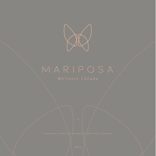 Logo for MARIPOSA with Spiritual and Natural Theme