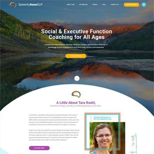 Homepage Concept for a Speech Therapist
