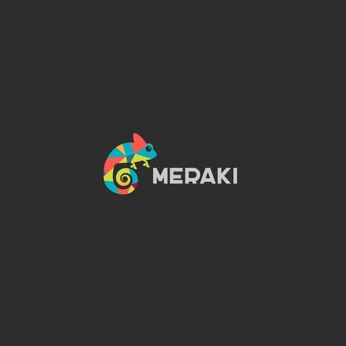 Create colourful inspiring logo for Meraki Marketing