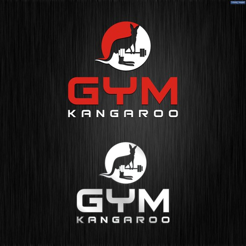 Create a logo for Gym Kangaroo, an app allowing tourists to skip hotel gyms and find real gyms.