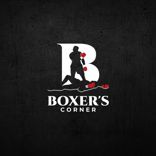 Strong and iconic logo design entry for Boxer's Corner