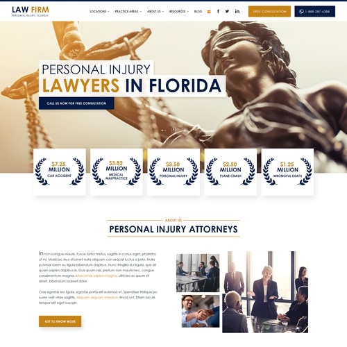 New design for a legal company!