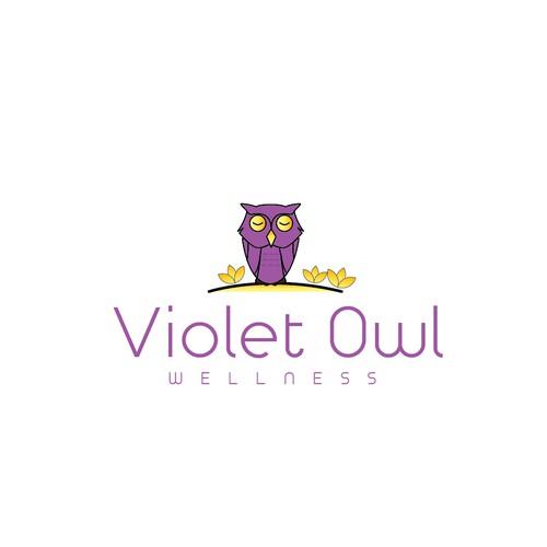 Violet Owl Wellness Logo