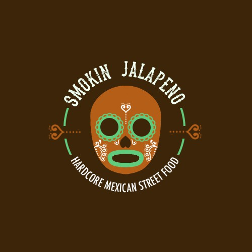 "Smokin Jalapeno ""hardcore mexican street food"" logo contest"