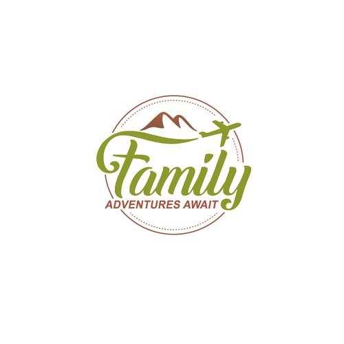 logo design for family adventures await travel