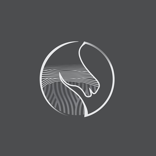 Logo concept for a horse trail riding company