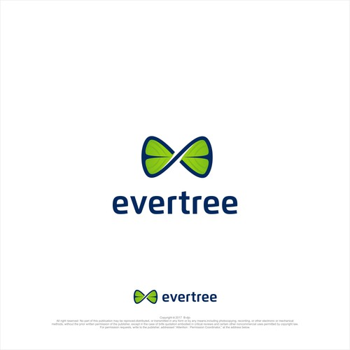 modern logo for evertree