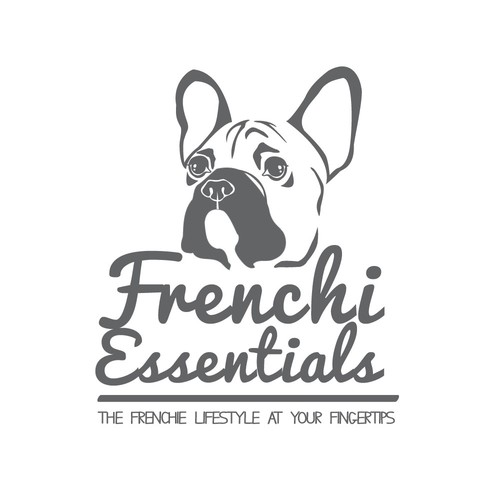 Logo for a luxury product line for Frenchie Bulldogs
