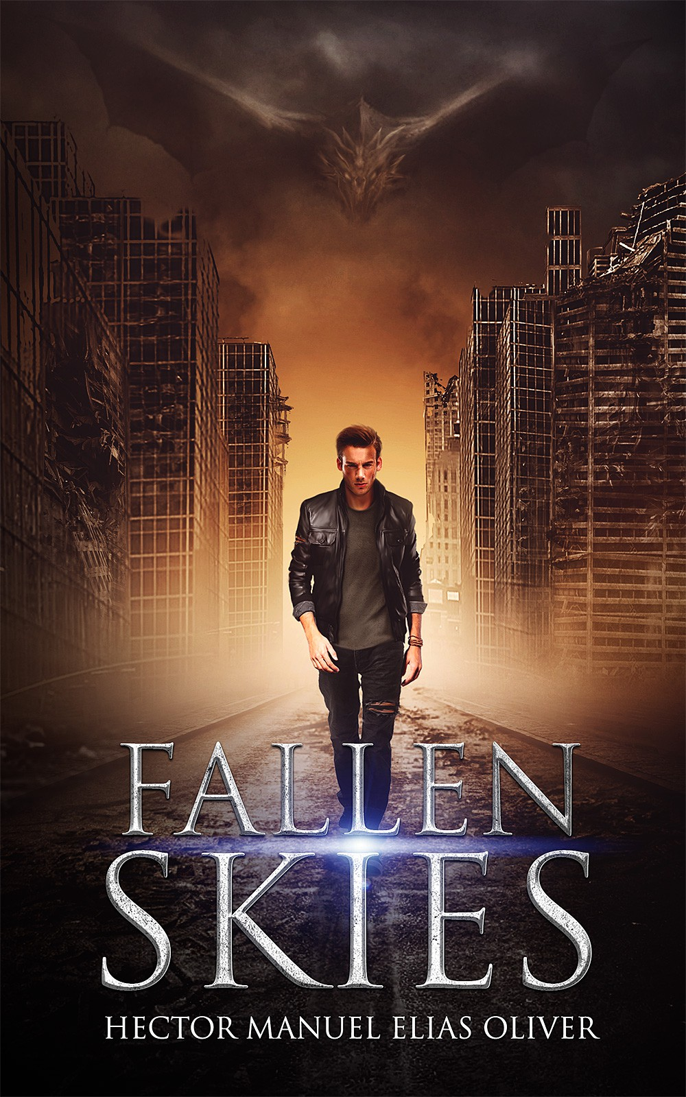 Create a cover for a new Epic Dystopian Fantasy/Sci-Fi Adventure book!