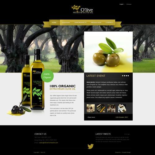 O'live Premium Olive Oil needs a new website design