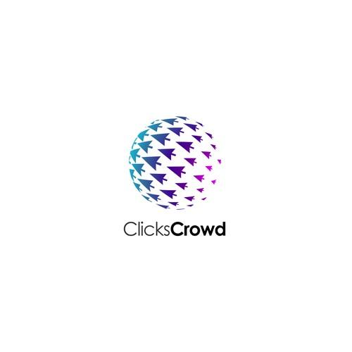 Logo for ClicksCrowd - Guaranteed.