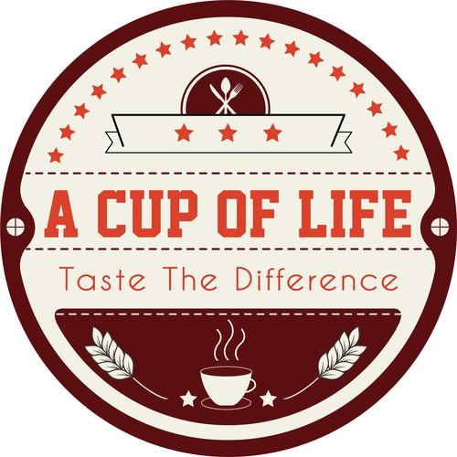 Retro Concept Logo For Coffee Store