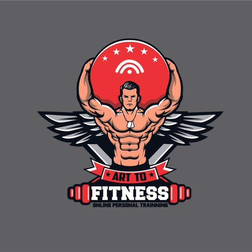 Art To Fitness logo contest entry