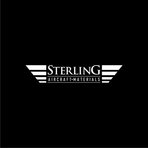 Design a modern industrial logo for Sterling Aircraft Materials