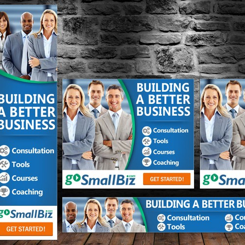Marketing Banner Ad Creation for GoSmallBiz.com