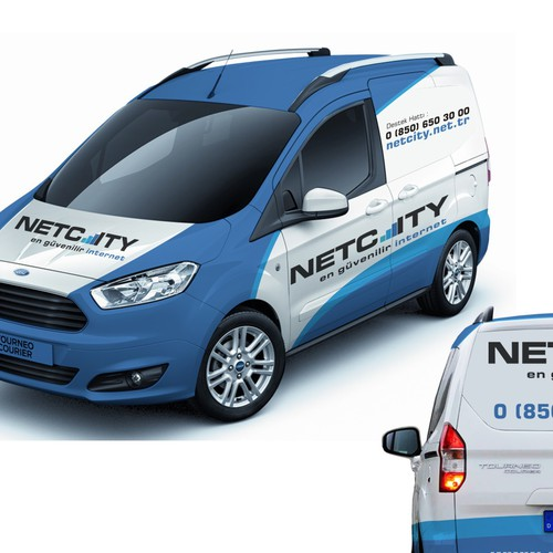 ford turneo courier wrapping for netcity