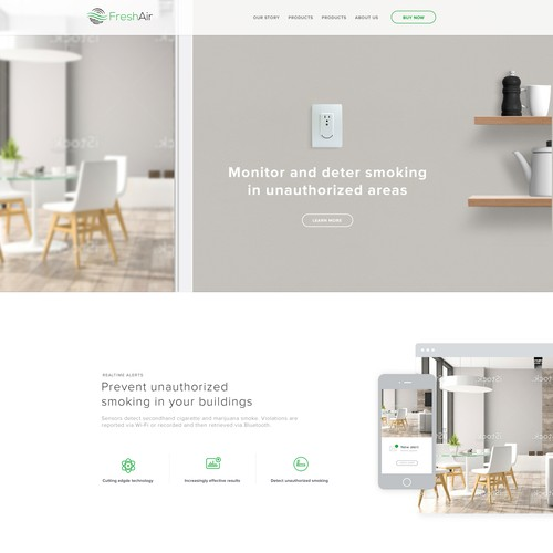 Website Design for Fresh Air Sensor