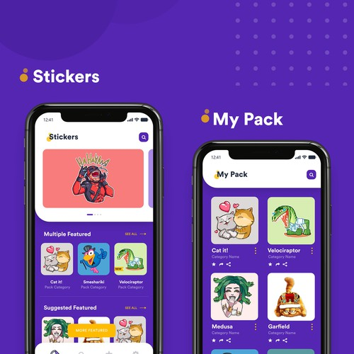 Design concept for mobile sticker.