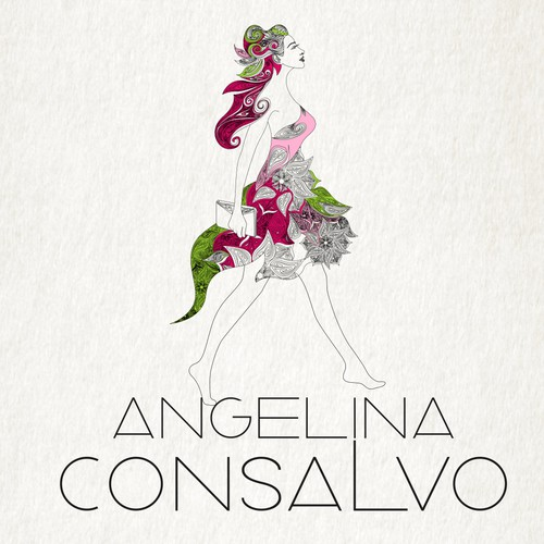Bold Logo Design for Angelina Consalvo