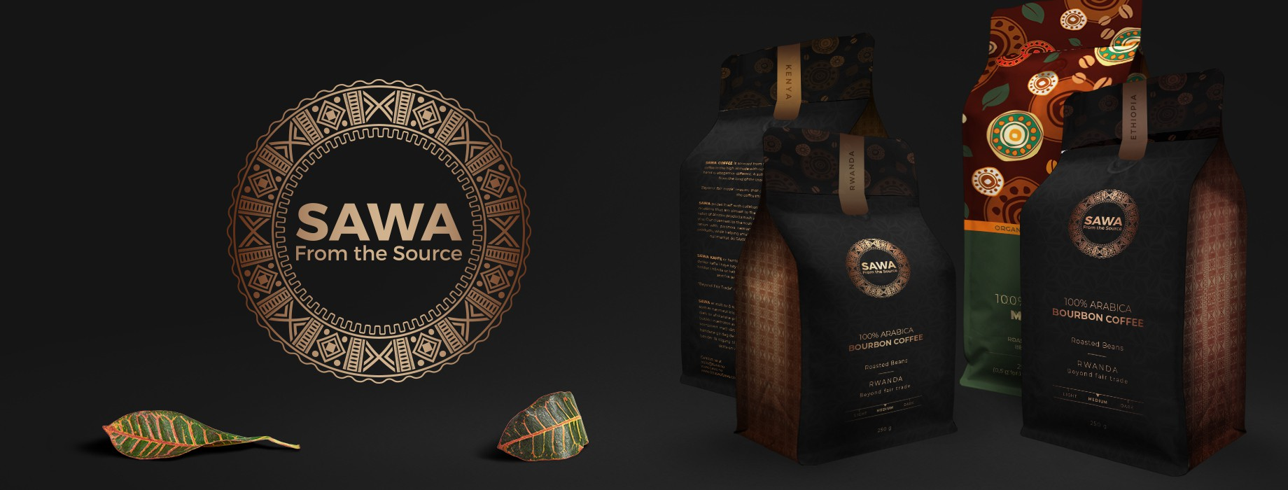 Sawa Brand and Logo Package and Coffee Packaging