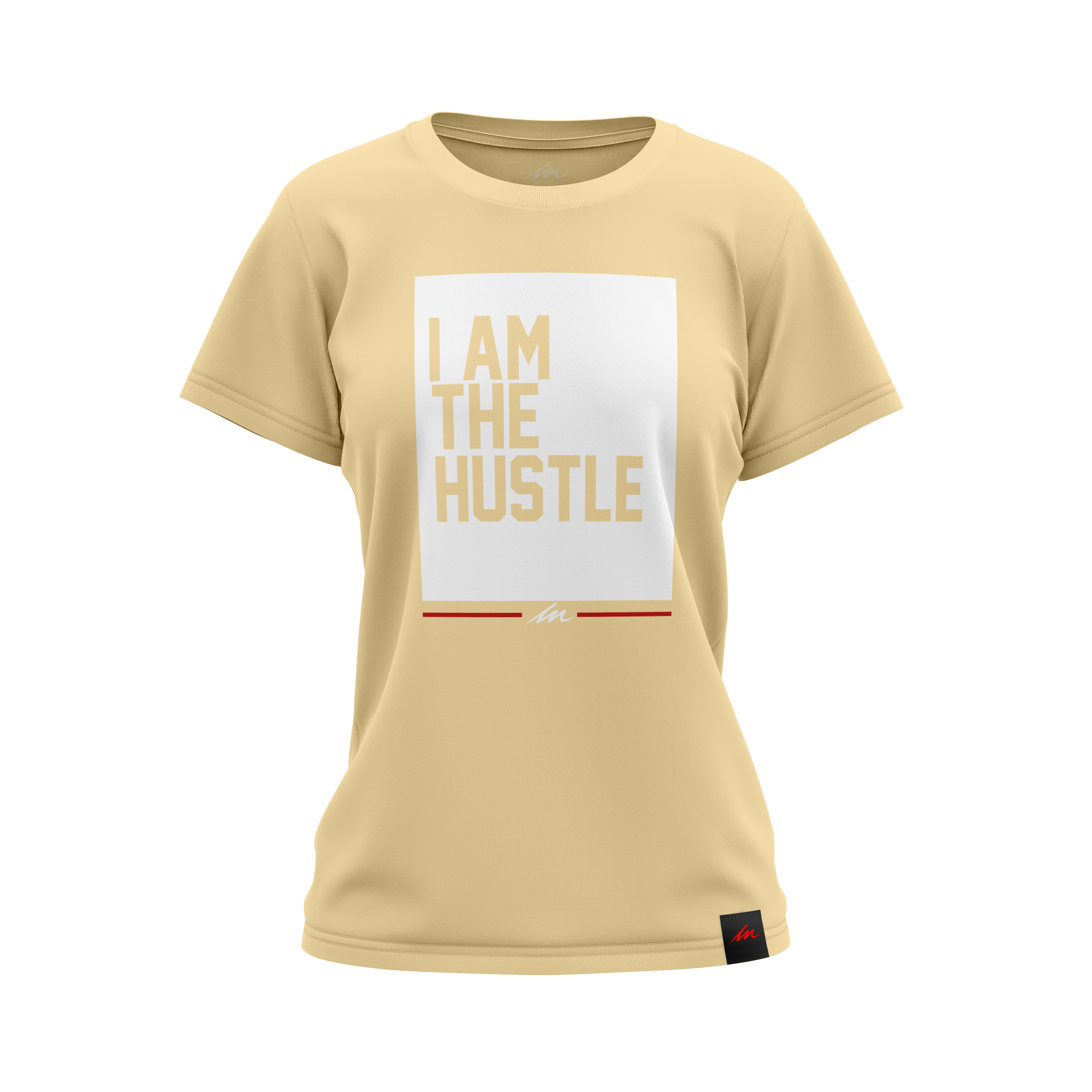 """Ladies """"I Am the Hustle"""" Flag and Graffito Perfect Tee Pastel Mockups"""