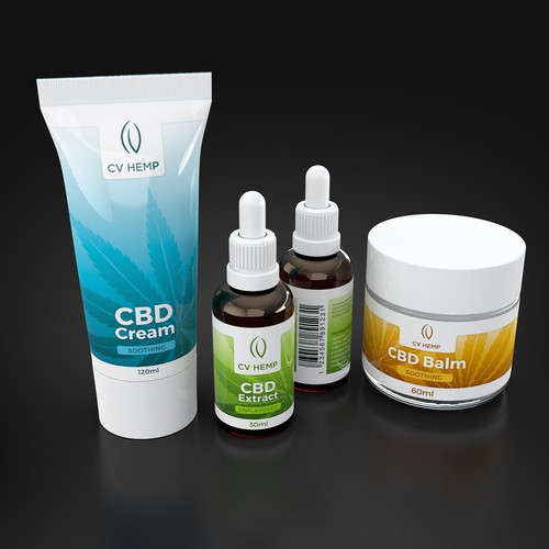 CVHemp Label/Package Design by Aromaland Wellness