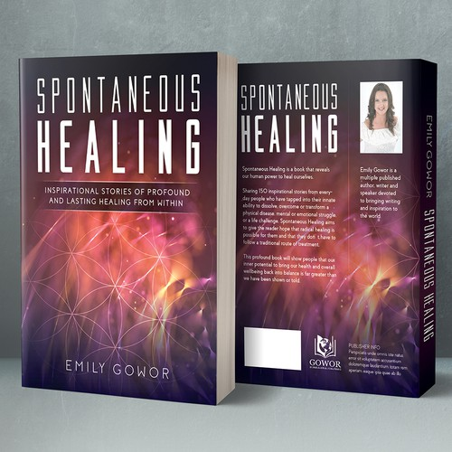 "A book cover design for ""Spontaneous Healing"""