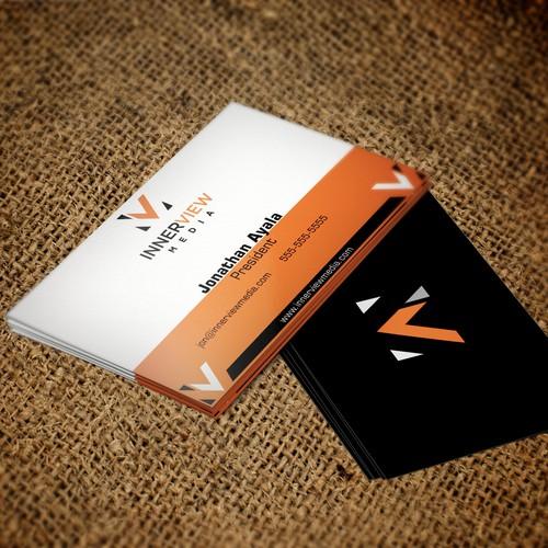 Business Card Design for InnerView Media