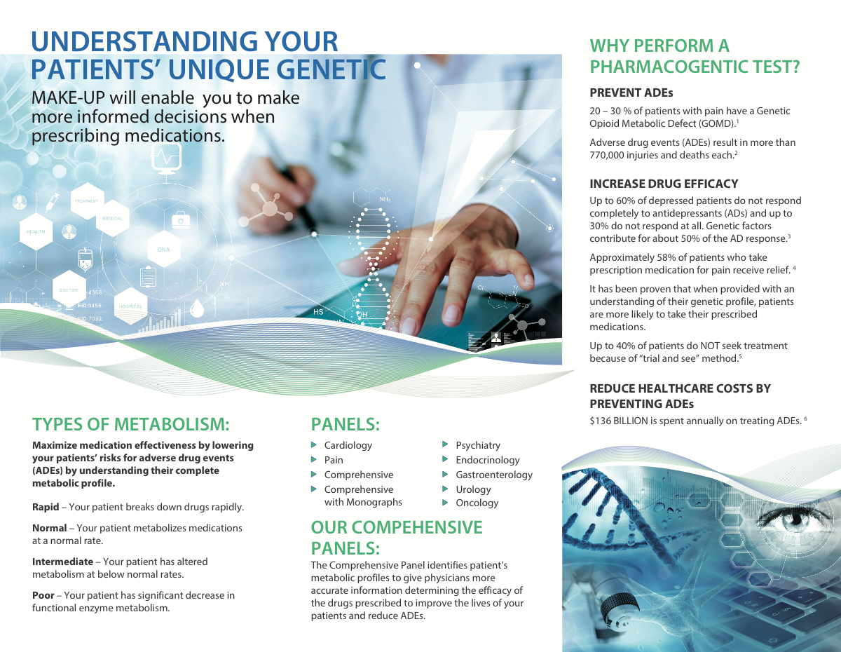 WellMed Labs trifold brochure