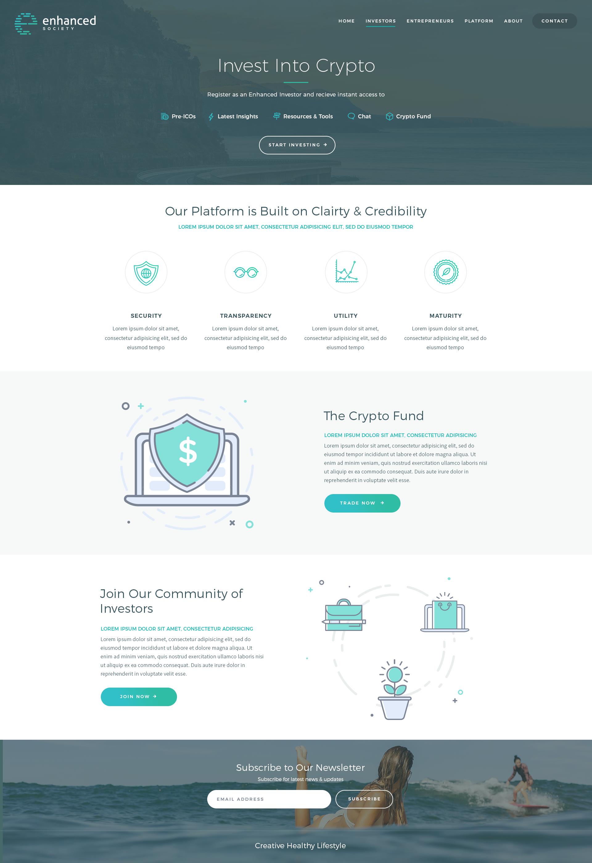 Enhanced Society needs a powerful website design