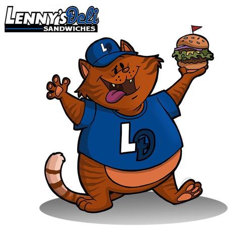 Lenny's Deli cat mascot