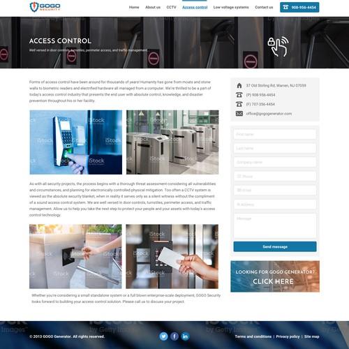 Service page design