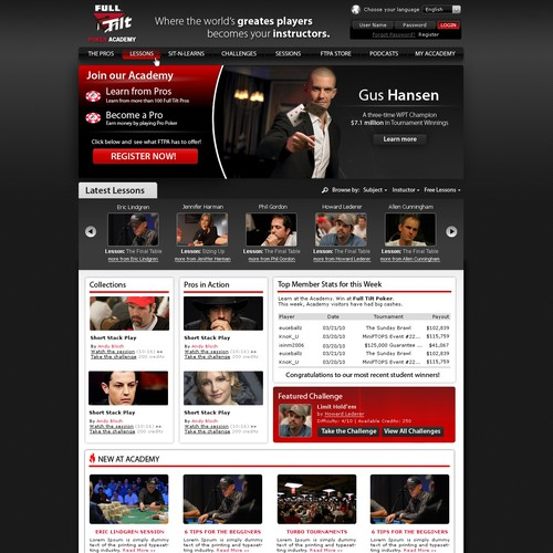 One Page: Creative Ideas Needed for World-Class Poker Site