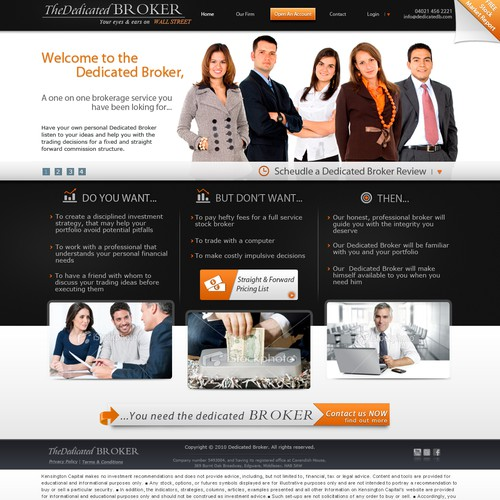 Website design for the dedicated broker