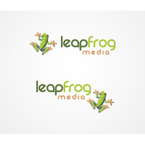 Leapfrog Media Logo Design