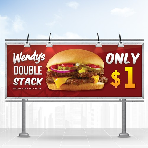 Wendy's Double Stack Banner