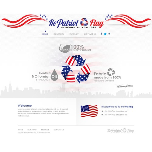Help RePatriot Flag with a new website design