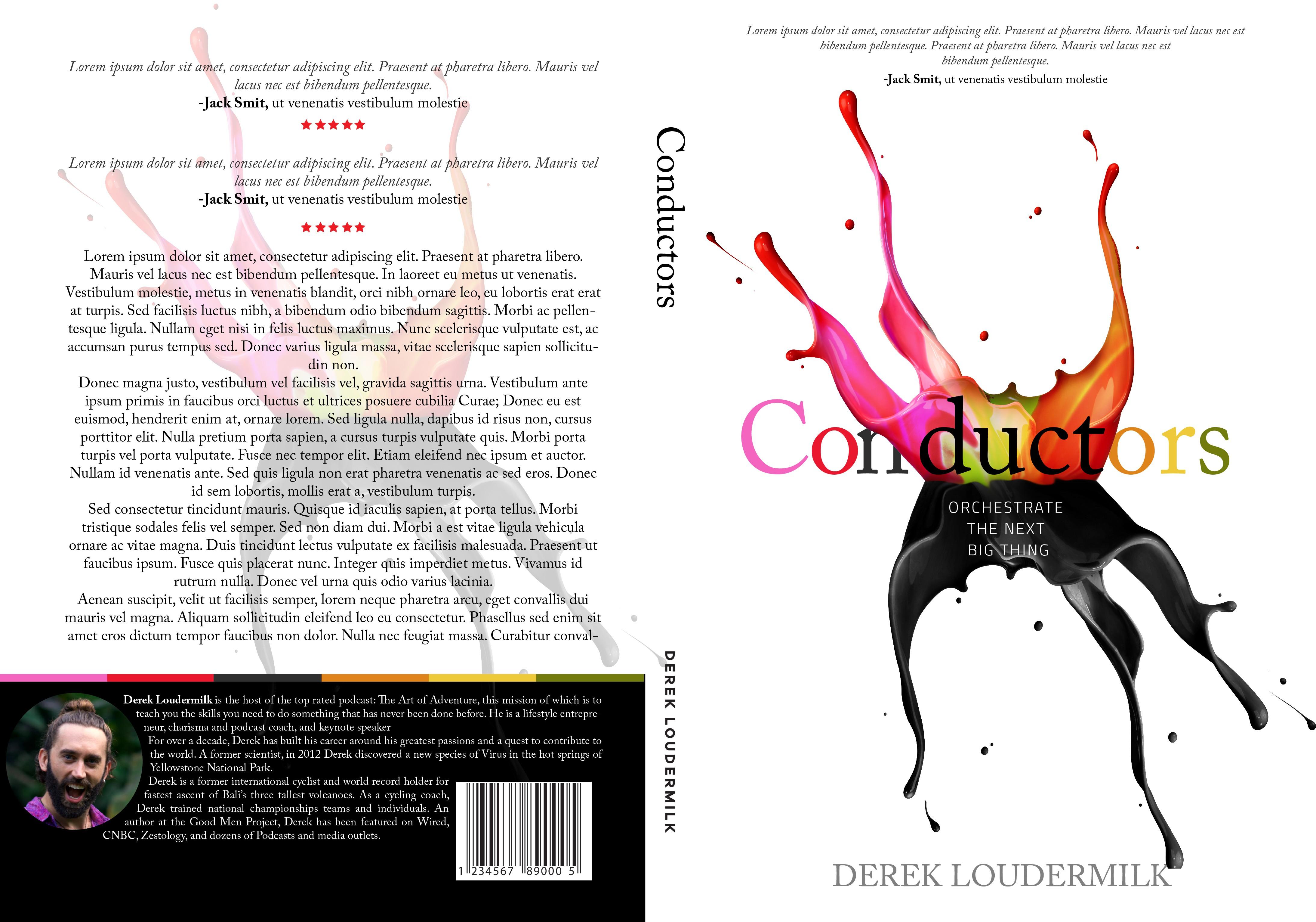 "Colorful, Geometric Book cover design for ""Conductors"" Book"