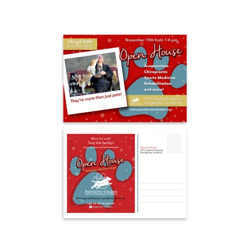 Postcard Design for Pawsitive Strides
