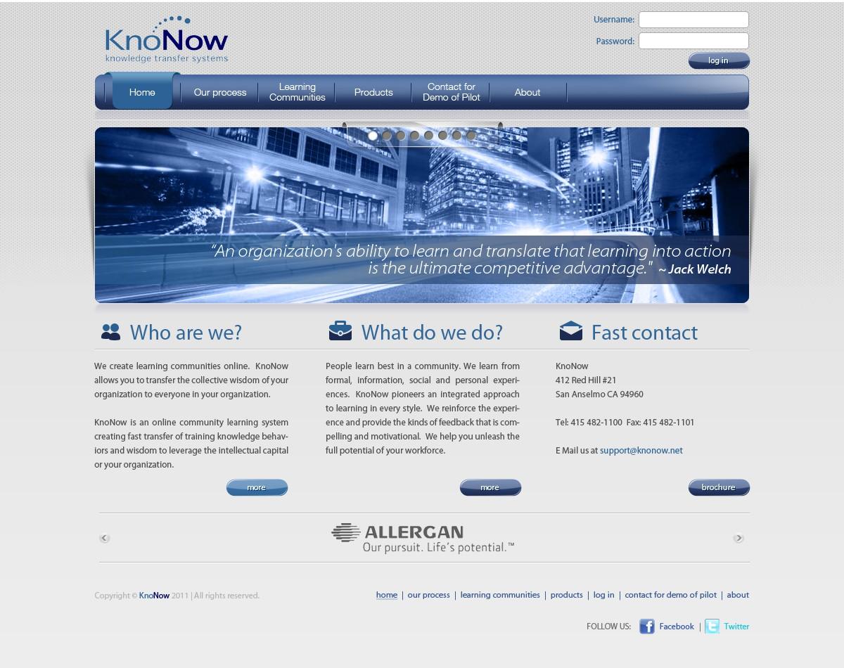 Create the next website design for KnoNow