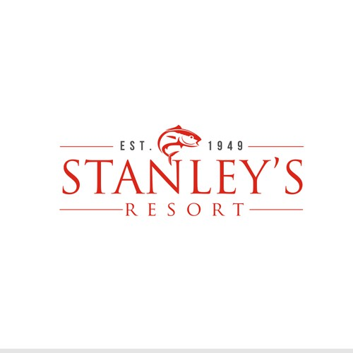 Create a dynamic logo for Stanley's Resort. A deluxe fishing resort inOntario.