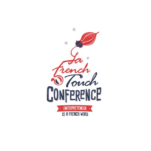 Create a retro but modern logo for LaFrenchTouch conference