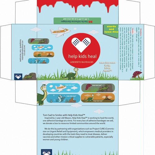 Create Adhesive Bandage Product Package to Help Kids Heal