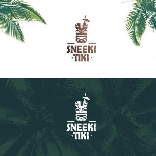 Bar and nightclub logo - Sneeki Tiki / Logo de bar y club nocturno - Sneeki Tiki