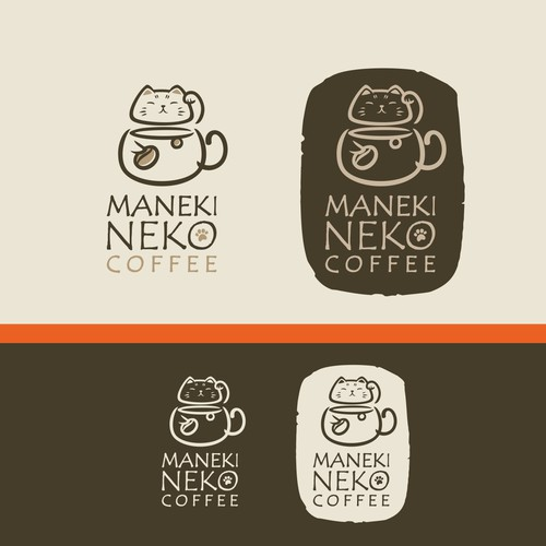 Logo for a ManekiNeko themed cafe